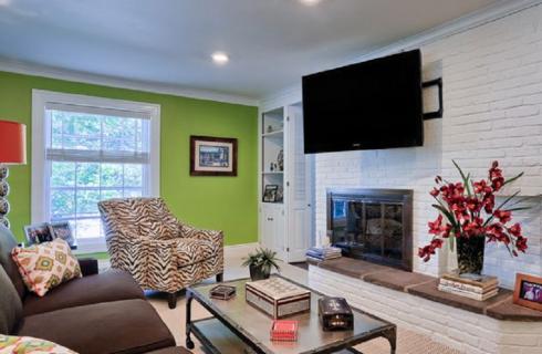 Residence Living Room, Family Room & Hallway Interior Design