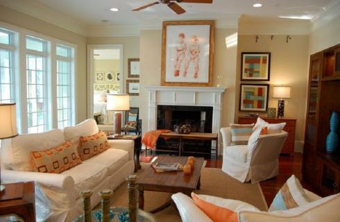Residence River Estates Living space Interior Design